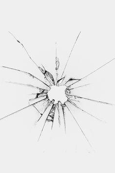 Apple Llogo Window Broken Glass White iPhone 4s Wallpapers