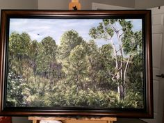 Nature Reserve Saint Augustine.  Acrylic on canvas.