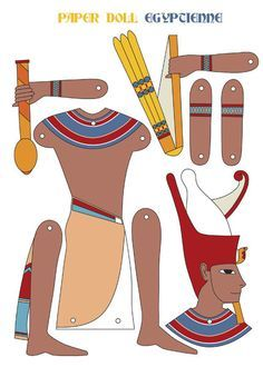 Ancient Egypt a few more Paper Dolls Pharoah Narmer ~ Site to purchase some Moving Figures And some Ancients paper dolls to colour in. Ancient Egypt Activities, Ancient Egypt Crafts, Ancient Egypt For Kids, Egyptian Crafts, Ancient Paper, Egyptian Party, Thinking Day, Ancient Civilizations, Elementary Art