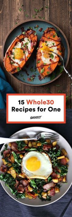 Gone are the days of too many leftovers and too much time spent in the kitchen.  #healthy #whole30 #recipes http://greatist.com/eat/whole30-recipes-for-one