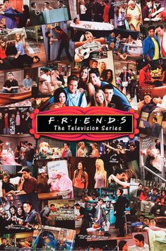 Friends Collage Poster Friends is the Best Show Ever. Friends made us laugh, it made us cry. It thought all of us so much about friendship and friends. Tv: Friends, Chandler Friends, Friends Tv Show, Friends Episodes, Friends Cast, Friends Moments, Friends Series, Friends Forever, Pivot Friends