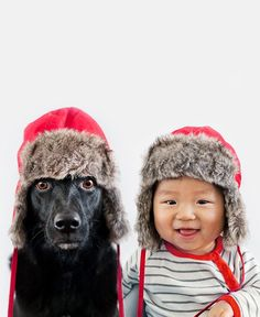Ten-Month-Old and Rescued Pup Make for an Adorable Portrait Duo (too cute!)
