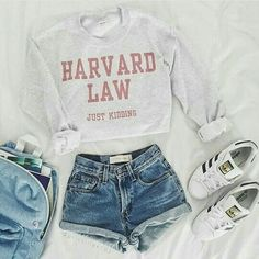 Ivy League shirts are perfect for putting together cute outfits for class for sc., Summer Outfits, Ivy League shirts are perfect for putting together cute outfits for class for school! Teen Fashion Outfits, Mode Outfits, Fall Outfits, Teenage Outfits, Outfits For School Summer, Casual Outfits For Teens Summer, Cute Clothes For Teens, Shorts Outfits For Teens, Fashion Fashion