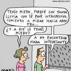La lluvia no lo inspira...