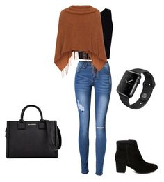 """Untitled #51"" by littleneverlander on Polyvore featuring Samoon, Steve Madden, Karl Lagerfeld and Apple"
