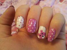 Nail Art Images, Image Fun, Cool Nail Designs, Cool Nail Art, Nail Arts, Pink Nails, Wallpaper, Design Resume, Teddy Bear