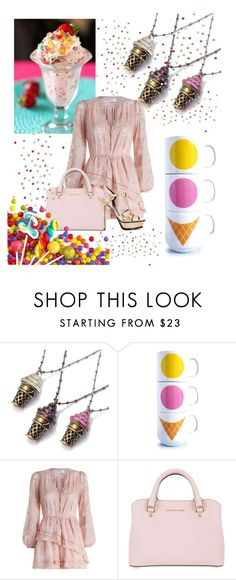 """""""Icecream"""" by mary-thor ❤ liked on Polyvore featuring interior, interiors, interior design, home, home decor, interior decorating, Sweet Romance, Zimmermann, MICHAEL Michael Kors and Yves Saint Laurent"""