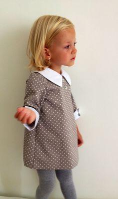 Grey polka-dot dress