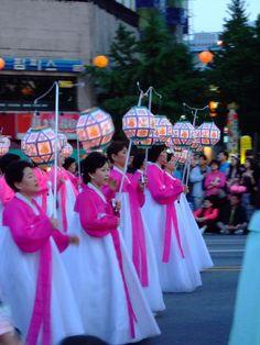 Lotus lantern festival for Buddah's birthday, South Korea