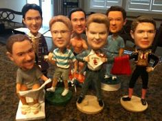 Groomsmen Gifts - bobble heads -- amazing -- hopefully their heads are smaller in real life. ;)