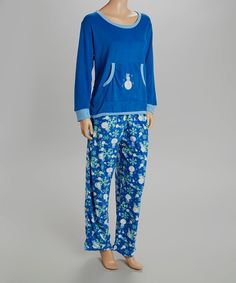 Another great find on #zulily! Royal Blue Snowman Pajama Set - Women & Plus by  #zulilyfinds