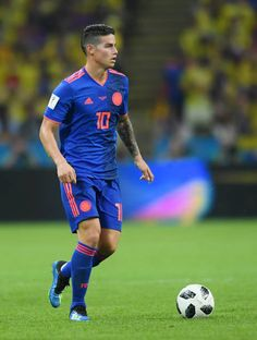 James Rodriguez el pro of Colombia in action during the 2018 FIFA World Cup Russia group H match between Poland and Colombia at Kazan Arena on June 24 James Rodriguez Colombia, Football Icon, World Football, College Football, Everton, James Rodrigez, Russia 2018, Messi And Ronaldo, European Soccer