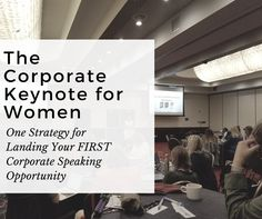 There is a shortage of women keynote presenters on corporate level stages. The corporate market is lucrative and will 10X your professional credibility, however, women often over-look the Fortune 500 market and settle for practice level events. This training will discuss ONE STRATEGY that will open