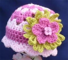 Pink on Pink Crochet beanie