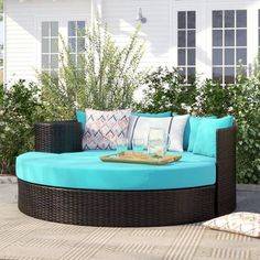 Purington Circular Patio Sectional with Cushions Outdoor Furniture Sets, Outdoor Decor, Decor, Patio Loveseat, Outdoor Furniture, Outdoor Garden Furniture, Circular Patio, Patio Daybed, Patio Sectional