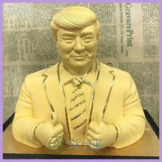 Gold President US Donald Trump Gold Plated Sculpture Furnishing Articles Handmade Crafts escultura Home Art Decoration with Box