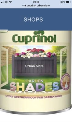Cuprinol Urban Slate, Slate Garden, Wood Store, House Painting