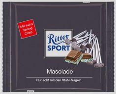 RITTER SPORT Fake Schokolade Masolade