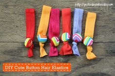 DIY Hair Ties great Christmas gift idea for women, teens and tweens from yesterdayontuesday.com