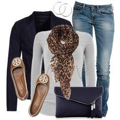 """Stripes & Animal Print"" like the whole outfit, change the purse Denim Fashion, Fashion Outfits, Womens Fashion, Stripes Fashion, Fall Winter Outfits, Autumn Winter Fashion, Fashion Over Fifty, Casual Outfits, Cute Outfits"
