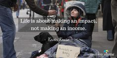 visme meme life is about making an impact making an income kevin kruse