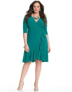 Whimsy wrap dress by Kiyonna | Lane Bryant
