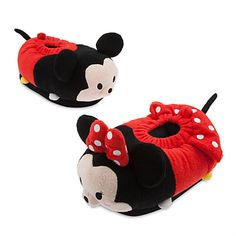 Mickey and Minnie Mouse ''Tsum Tsum'' Plush Slippers for Adults