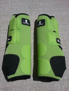 classic equine legacy boots LIME GREEN HIND horse tack SMB sports medicine boots