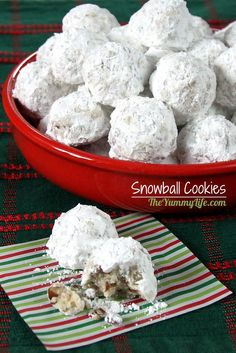 Snowball Cookies--A  favorite traditional Christmas cookie in the U.S. and also loved around the world as Russian Tea Cakes, Mexican Wedding Cakes, and Butterballs.  from The Yummy Life
