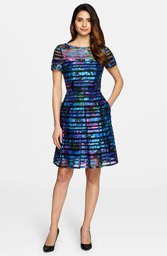 Tahari Burnout Fit & Flare Dress (Regular & Petite) available at #Nordstrom