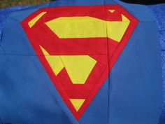 Superman Paper Pieced Quilt Block Superheroes by KMPsShop on Etsy, $35.00