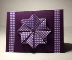 Purple Gingham :: Tea Bag Folding