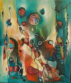 Pintura Abstracta ! Titulo, Lazos Que Unen. By Monica Renedo.Art 🌈