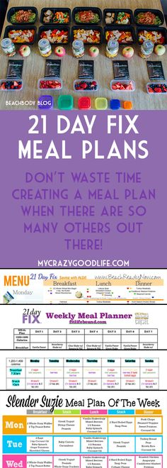 You don't have to spend hours creating meal plans for the 21 Day Fix! Here are the most popular meal plans for the 21 Day Fix | 21 Day Fix Meal Plans