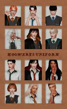 Hogwarts uniform & Cape by Kiro for The Sims 4