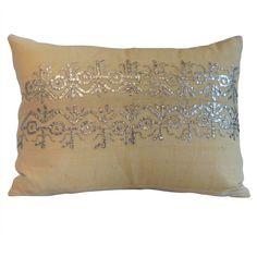 1stdibs.com   19th Century Turkish Embroidery Pillow.
