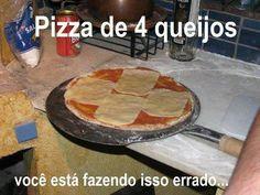 Pizza de 4 queijos…  Veja mais em: http://www.jacaesta.com/pizza-de-4-queijos/