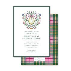 Burnett Christmas Crest Invitation Holiday Invitations, Christmas Eve, Design