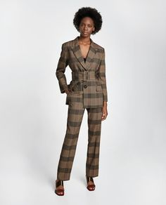 ZARA - WOMAN - CHECKED BLAZER