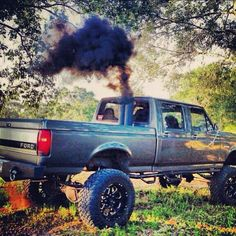 big trucks and girls Ford F250 Diesel, Chevy Diesel Trucks, Powerstroke Diesel, Lifted Ford Trucks, Pickup Trucks, Dodge Diesel, Cool Trucks, Big Trucks, Funny Truck Quotes