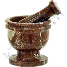 Mortar & Pestle is a very precious tool for crushing and grounding either food, herbs, or seeds and other varieties of herbal and mystical medicine. It is recommended to not use the same mortar and pestle for edible and non edible mixtures. This pedestal mortar & pestle is crafted in Pakistan, out of brown zebra marble. Each one is unique; please allow for color variations. - See more at: http://www.kheopsinternational.com/kheopsint/p/64210.html#sthash.yODaaEeF.dpuf
