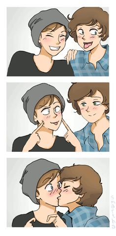 Don't care if it's Larry Stylingson, its gay and adorable Lgbt Couples, Cute Gay Couples, Girls In Love, Love Is, Monster Falls, One Direction Drawings, Comic Anime, Boy Drawing, Couple Drawings