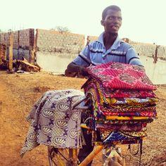Textiles Vendor @ Bafatá, Guinea-Bissau