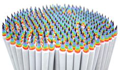 Rainbow birthday party favor.  Rainbow Pencils | Stationery | Duncan Shotton Design Studio
