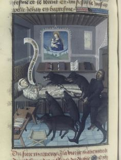 Miracle of Our Lady: The monk and the devil, Speculum historiale (BNF ...