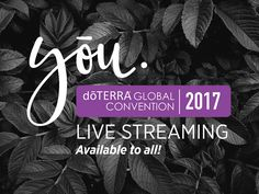 If you missed the Facebook LIVE from today, then you'll be excited to hear that we are bringing dōTERRA's 2017 Global Convention to yōu! Online tickets are only $49.00, and will give you access to all of convention, including:  - All 6 general sessions - everything that happens on stage - Essential oil updates and training - New product launches - Exciting new healthcare initiative announcements  Watch LIVE each day, 11:00am – 6:00pm MDT.  Available in the following Languages:  English…