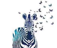 Zebra Art Print by Vita G | Society6