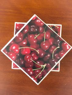 Cherry coasters fruit coasters ceramic tile by KCstylejewelry