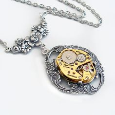 Time for You  Steampunk Pendant Necklace by TrashAndTrinkets, $48.00
