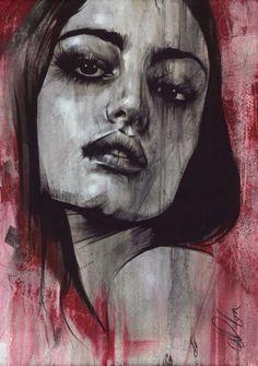 "Non Nude OIL & ACRYLIC CANVAS Painting ORIGINAL Portrait By L Dolan 16x24"" Kelda"
